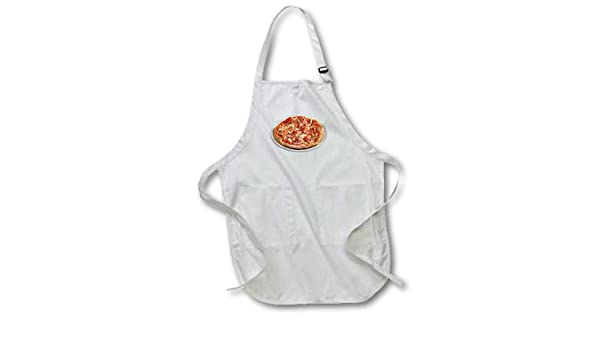 22 by 24-Inch 3dRose apr/_4540/_2 Pizza Medium Length Apron with Pouch Pockets