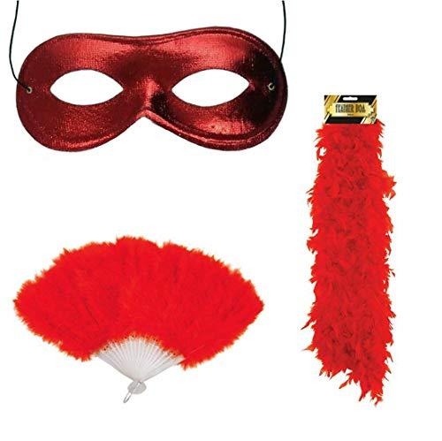Style Wise Fashion Damen Maske für Junggesellinnenabschied, Junggesellinnenabschied, Kostüm-Accessoire, Rot Gr. One size, Hen Night Accessory - Junggesellinnenabschied Themen Kostüm