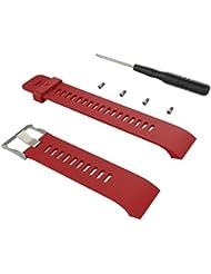 Correa para Garmin Forerunner 35, Malloom Reemplazo moda deportes reloj pulsera correa banda de silicona para Garmin Forerunner 35 GPS Reloj (Rojo)