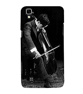 For LG X Power :: LG X Power K220DS K220 man, man with guitar, black background, guitar Designer Printed High Quality Smooth Matte Protective Mobile Case Back Pouch Cover by APEX