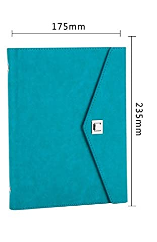 GZD fashion simple business business notebook notepad three copies of the custom can be printed LOGO17.5 * 23.5cm , blue (a5
