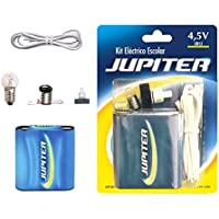 Jupiter Kit Eléctrico Escolar,Set Colegio Electricidad para Niños, Kit de Experimentación Eléctrica Básica para Trabajos Escolares (324620)