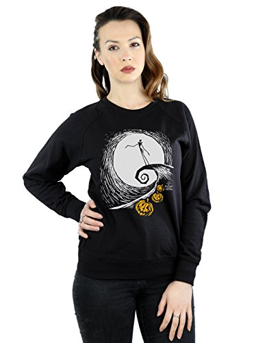 Disney Damen Nightmare Before Christmas Jack's Lament Sweatshirt Large Schwarz (Christmas-pullover Nightmare Before)