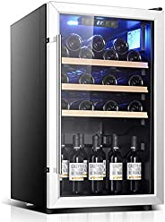 Wine Refrigerator - Wine Fridge, Cooler, 122 Bottles, Touch, 39 Db in Operation, Glass Door, Setting From 41 T