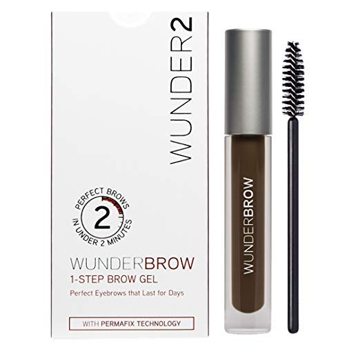 WUNDER2 WUNDERBROW Gel de Cejas Waterproof – Cejas Duraderas con Volumen y Definición, Color Black Brown