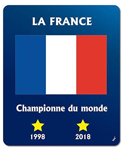 Calcio - La Francia Campione del Mondo 1998 2018 Tappetino per Mouse (23 x 19cm)