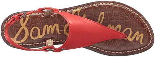 Sam Edelman Greta, Sandales Bride arrière femme Havana Red Leather