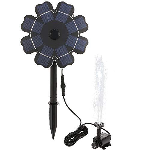8 Sprinkler (Decdeal Solar Brunnenpumpe Blume Geformt Solarpanel mit Stake 8V / 2.5W Solar Angetriebene Sprinkler Brunnenpumpe für Garten, Vogelbad, Kleinen Teich)