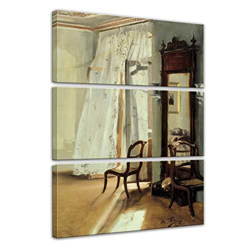 Wandbild Adolph von Menzel Das Balkonzimmer - 90x150cm mehrteilig hochkant - Alte Meister Berühmte...