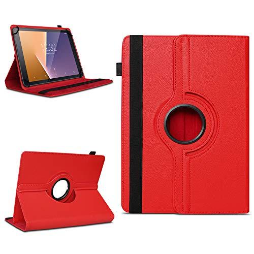 NAmobile Tasche für Vodafone Tab Prime 6/7 Tablet Hülle Schutzhülle Case Farbwahl Cover, Farben:Rot