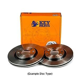 Key Parts KBD4069 Brake Disc Pair Front