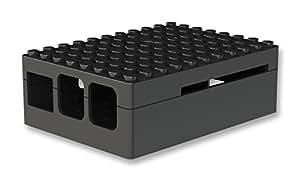 Pi-Blox Case for Raspberry Pi 3 & Raspberry Pi 2 Model B & Pi Camera (Black)