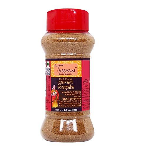 Tassyam Premium Garam Masala 80g   Dispenser Bottle