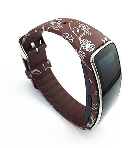 SAMSUNG Galaxy Gear fit R350 SmartWatch Uhr Ersatzarmband Armband Zubehor (Flower-016)