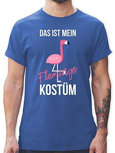 (Karneval & Fasching - Das ist Mein Flamingo Kostüm - 3XL - Royalblau - L190 - Herren T-Shirt Rundhals)