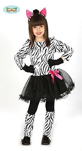 süßes Zebra Kostüm für Mädchen Gr. 98-146, Größe:140/146