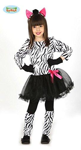 süßes Zebra Kostüm für Mädchen Gr. 98-146, (Kostüm Mädchen Zebra Für)