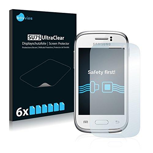 [6 Unidades] Savvies Protector Pantalla para Samsung Galaxy Young S6310  Transparente