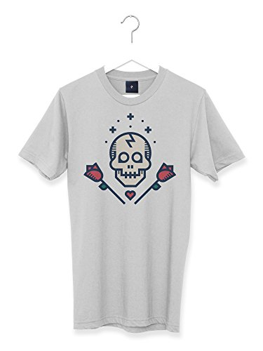 6a8c80d4103a1e Lovestruck Graphic Skull and Roses Retro Tattoo Men s T Shirt (S)