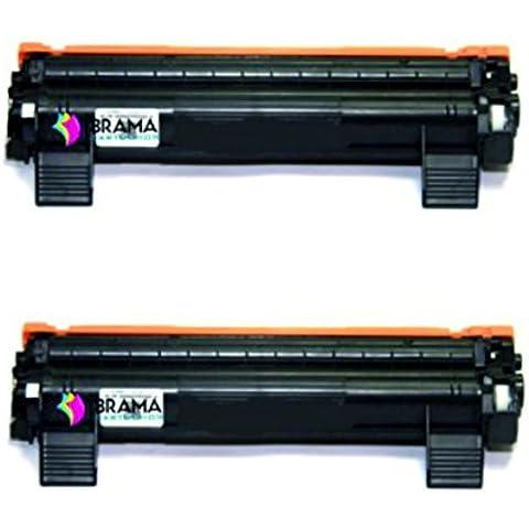 Bramacartuchos - 2 X Cartuchos compatibles Non Oem Brother Tn1050, Tn1050, Brother DCP1510, DCP1512, HL1110, HL1112, MFC1810. TN 1050, TN-1050. 1000 páginas