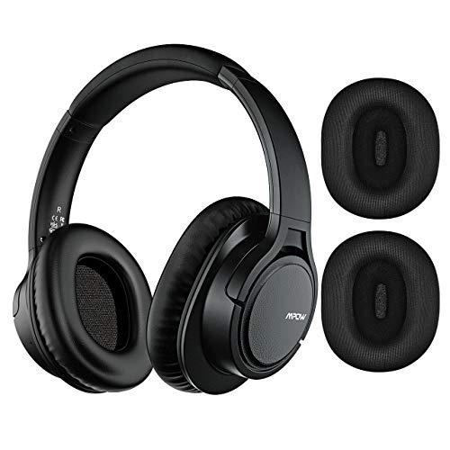 Mpow H7 Plus Casque Bluetooth, Casque Audio APTX 4.2 Son Basse Casque Stéréo avec Microphone Cache-Oreilles Remplaçables Casque Audio Bluetooth CVC6.0 pour Téléphone Portable/Tablette/PC/TV
