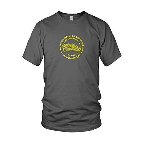 Solo Shipping & Logistics - Herren T-Shirt, Größe: M, Farbe: grau (Wookie Jedi Kostüm)