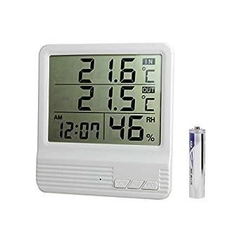 mailfoulen Medidor de Humedad Relativa Estación meteorológica probador CX-301A LCD Digital termómetro higrómetro Interior/Exterior Temperatura del Tanque de Peces Bien parecido Practico