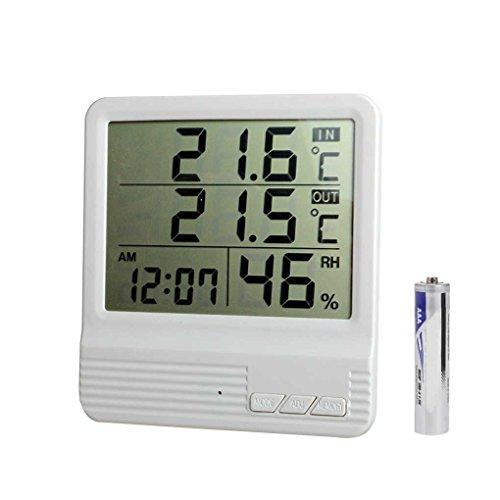 Lorsoul CX-301A-LCD-Digital-Thermometer-Hygrometer, Innen/Außen-Fisch-Behälter-Temperatur-Feuchtigkeits-Messinstrument, Wetterstation Tester -