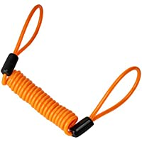 FENICAL Cable Recordatorio Cable de Candado de Moto Bicicleta Bloqueo de Disco Naranja 1.2 M