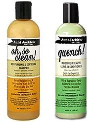 Aunt Jackie pour femme Duo Soin des Cheveux Ensemble: 1x Oh So Clean Shamopo et 1x Quench. Après-shampoing...