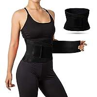 Waist Trainer Belt Body Shaper Belly Wrap Waist Cincher Trimmer - Sport Girdle Belt Waist Trainer for Weight Loss Workout Fitness (L)