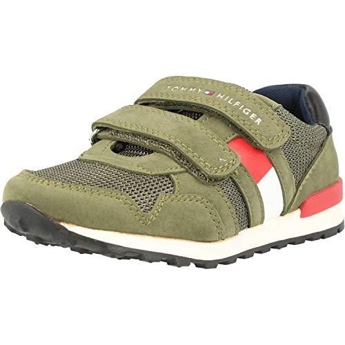 Tommy Hilfiger Kinder Sneaker Sport-Schuhe Unisex Jungen, Farbe:Grün, Größe:EUR 30