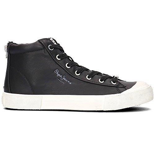 Pepe Jeans London New Brother, Sneaker a Collo Alto Uomo Nero (Black)