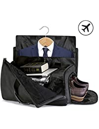 SUVOM Suit Travel Bag Suit Bag Carrier Luggage Change to Travel Duffel Bag  for Men Women b8a7462f4198e