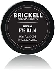 Brickell Men's Restoring Eye Cream for Men - Natural Anti Aging Eye Balm To Reduce Puffiness, Wrinkles, Dark Circles, Under Eye Bags - .5 oz