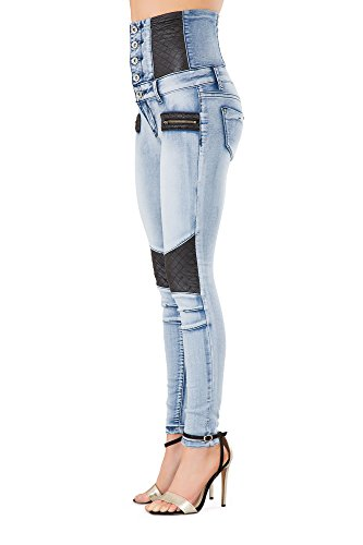 f43fe830e9c6 Lustychic Lusty Chic New Women Black High Waisted Leather Look Skinny Jeans  Ladies Slim Fit Trousers Leggings Size 6-14