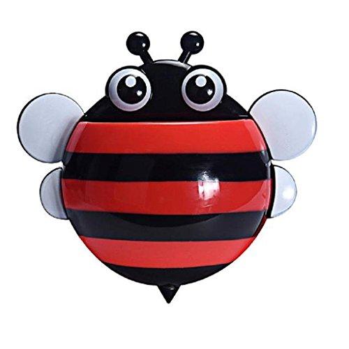 Kreative Nette Biene saugstark Zahnbürste Zahnpasta Halter (Rot )