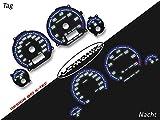 LETRONIX Plasma Tacho Tachoscheiben für Auto Golf 3 Vento 20-260Km/h 7000U/Min