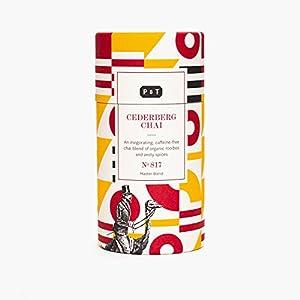 P & T Cederberg Chai, Master Blend de Rooibos Bio en Vrac, Rooibos et Mélange d'Épices, Sans Caféine, Boîte Design (100g/3,5oz)