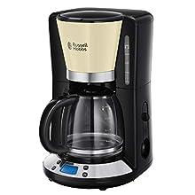 Russell Hobbs Colours Plus+ Macchina del caffè Americano, 1100 W, 1.25 Litri, Acciaio Inox, Crema