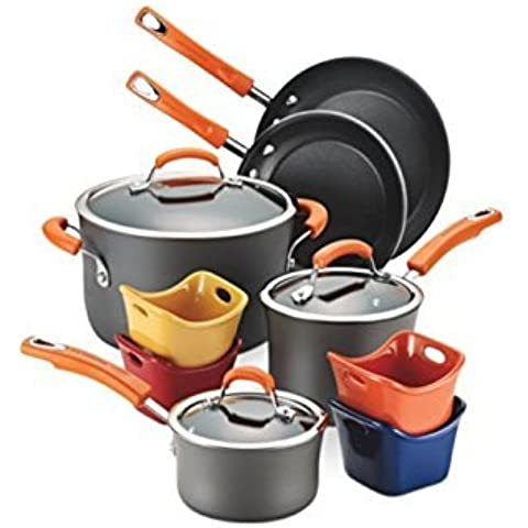Rachael Ray Hard-Anodized Nonstick 12-Piece Cookware Set by Rachael Ray