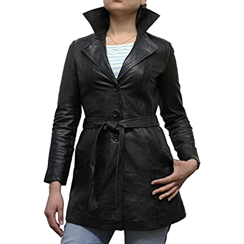 Brandslock mujeres capa de la chaqueta de piel de oveja real blazer