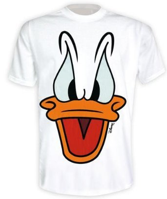 Donald Duck T-Shirt Big Face in Größe L - Walt Disney Shirt