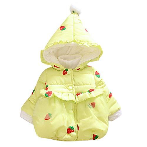 i-uend i-uend 2019 Baby Mantel, mädchen mit Kapuze Schneeanzug Winter Kragen mit Kapuze Winddicht Jacke Oberbekleidung für 0-24 Monate