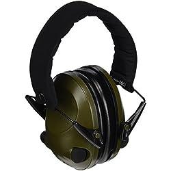 Mil-Tec Outdoor Products - Auriculares para protección acústica Activos, Color Verde Oliva