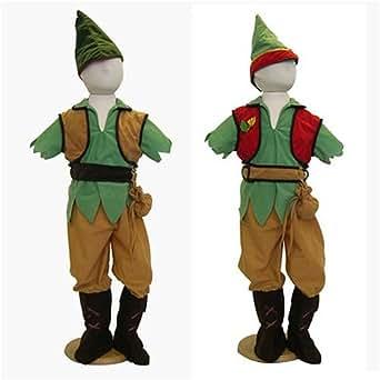 Travis - Deguisement Garçon 2 en 1 - Déguisement Peter Pan et Robin des Bois. Taille 3 / 5 ans.