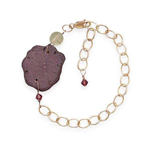 bracelet-reglable-14-20-or-rempli-avec-perle-en-bois-abstrait