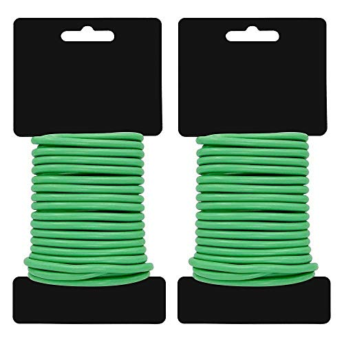 Haimist Garden Soft Tie Gardening Wire Slim Soft twist plant tie Plant Support 3.5mm x 8m Tie 2 Packs