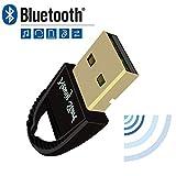 newiy Start Bluetooth 4.0USB Dongle Adapter, Plug und Play auf Windows 10, 8, 7, Vista XP 32/64Bit Laptop PC für Bluetooth-Lautsprecher, Headset, Tastatur, Maus und mehr