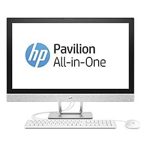 HP Pavilion 27-r050ng 68,6 cm (27 Zoll Full HD-IPS) All-in-One Desktop PC (Intel Core i5-7400T, 8GB RAM, 1TB HDD, 128GB SSD, AMD Radeon 530 Grafik, Windows 10 Home 64) weiß